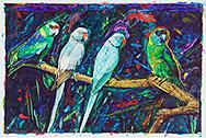 Joseph Raffael Watercolor Paintings made in 2006